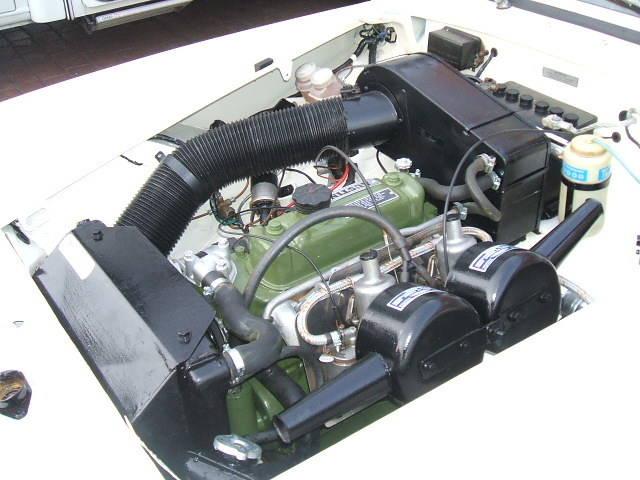 austin healey sprite white engine bay 3