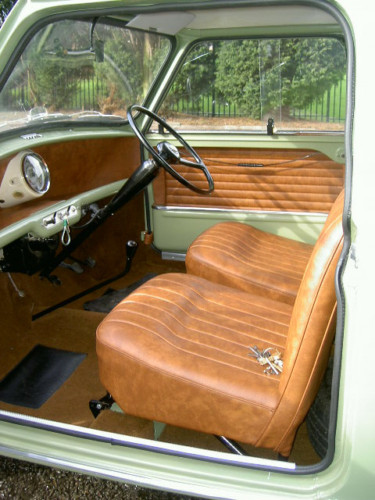 1963 austin mini van interior 1