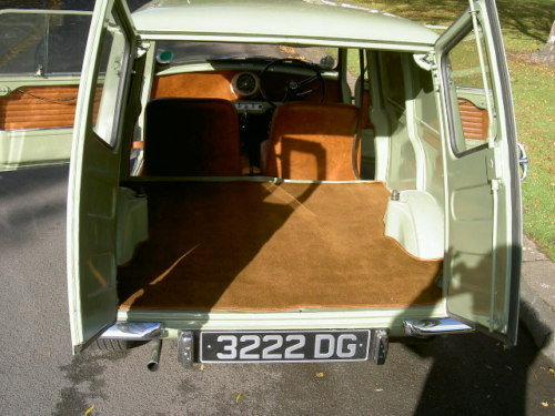 1963 austin mini van interior 2
