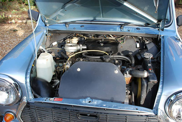 1987 austin mini mayfair engine bay