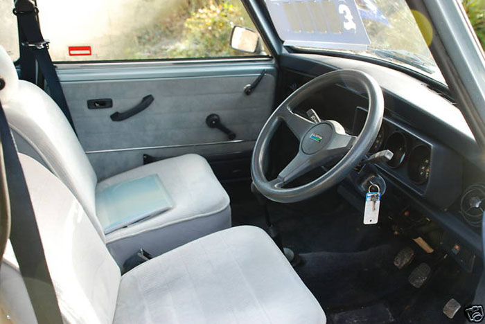 1987 austin mini mayfair interior