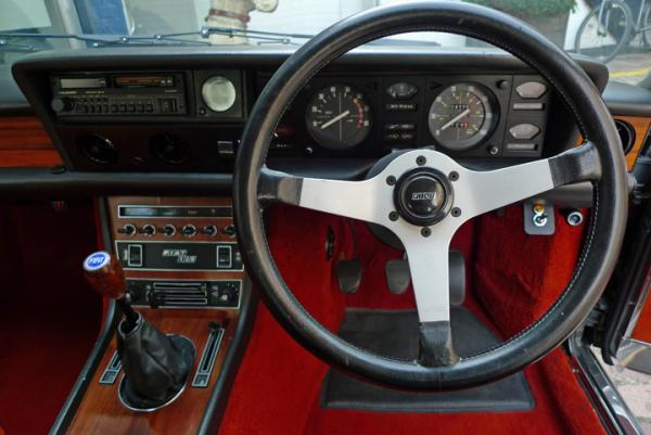 1978 Fiat 130 Coupe Interior Dashboard Steering Wheel