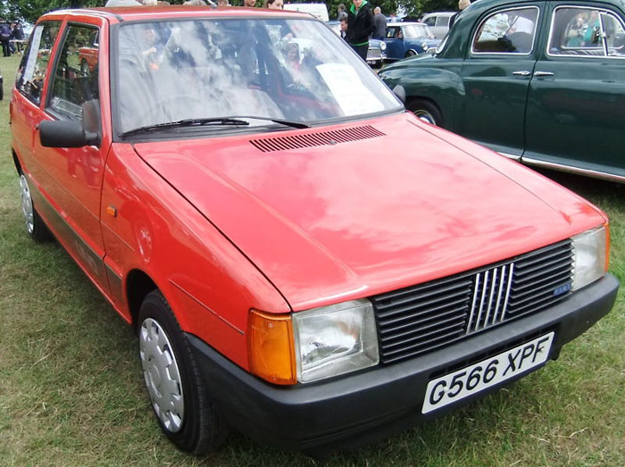 1991 fiat uno 45 fire red 999cc front