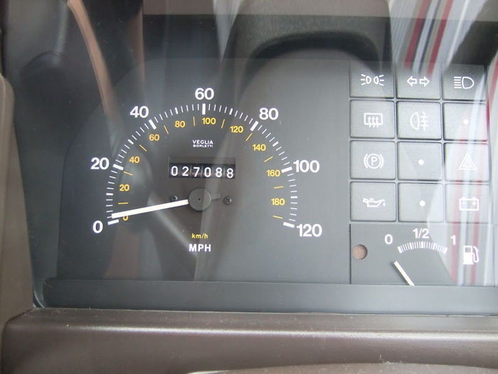 1991 fiat uno 45 fire red 999cc speedometer
