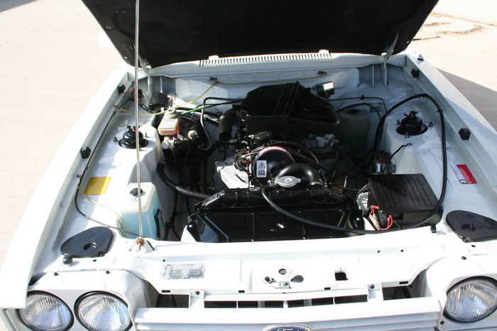 1985 concours ford capri 2.0 laser engine bay 1
