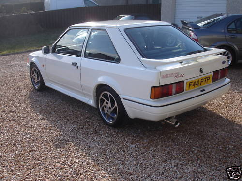 1989 ford escort rs turbo white 2