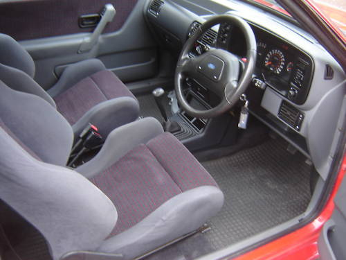 1986 ford escort series 2 rs turbo red interior