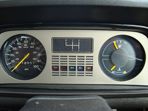 1980 ford fiesta l mark 1 dashboard