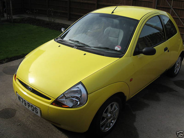 2000 ford ka millenium yellow 2