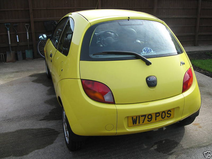 2000 ford ka millenium yellow 3