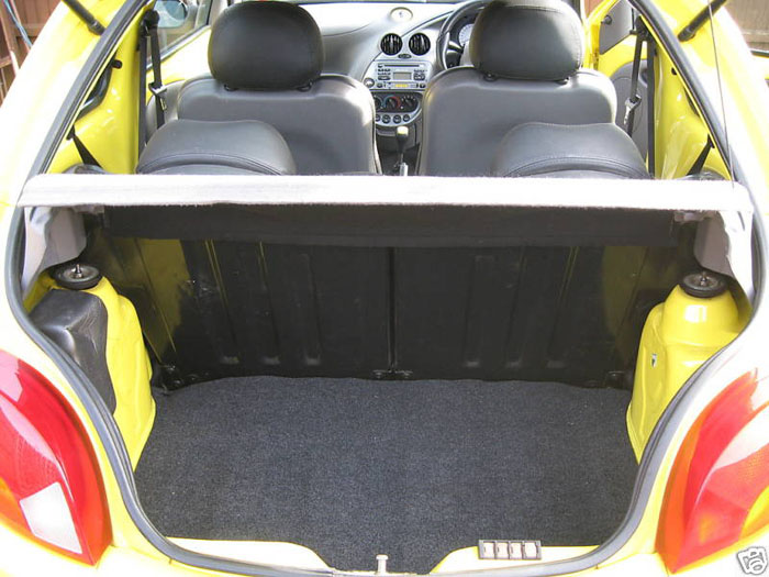 2000 ford ka millenium yellow boot