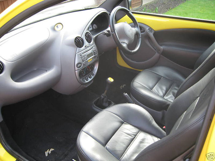 2000 ford ka millenium yellow interior