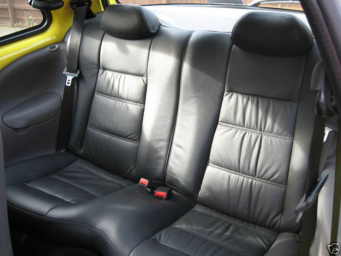 2000 ford ka millenium yellow rear seats