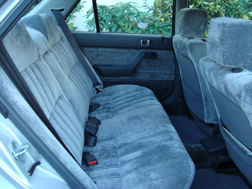 1986 Honda Accord 4AD II 2.0 Rear Interior