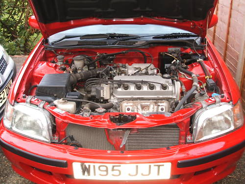 honda civic 1.6 se vtec 5 door engine bay