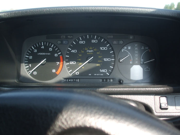 1991 Honda Prelude EX Auto Dashboard Gauges