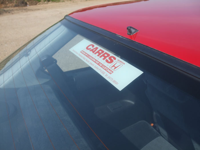 1991 Honda Prelude EX Auto Dealer Sticker
