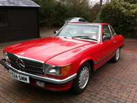 249 1989 mercedes 300 sl auto red icon