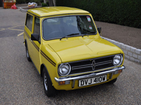 310 1980 austin morris mini clubman in yellow icon