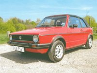 516 1982 vw volkswagen mk1 golf gli cabriolet mars red icon