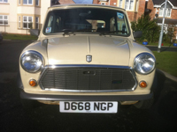 564 1986 austin mini mayfair auto beige icon
