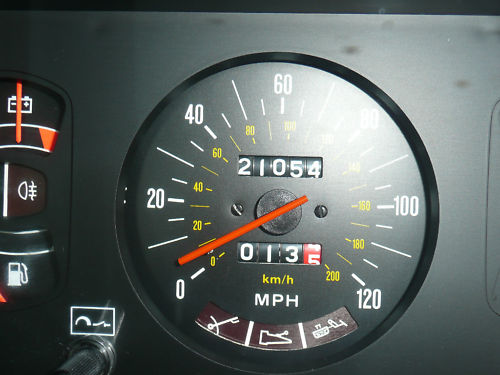 1982 lancia beta coupe speedometer