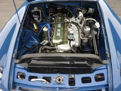1969 mgc gt automatic engine bay