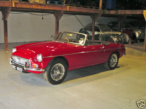 1968 mgc roadster concours rebuild 1