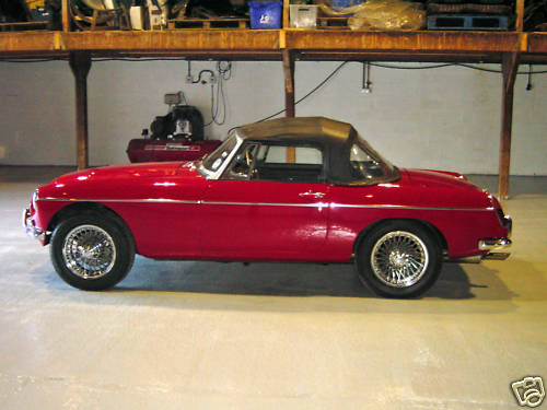1968 mgc roadster concours rebuild 4