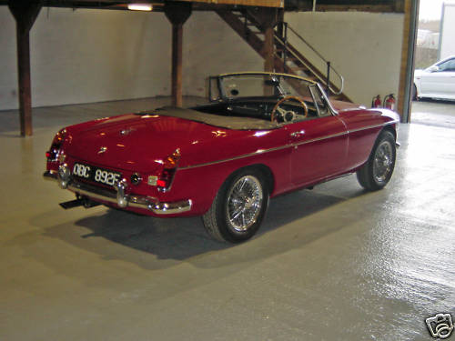 1968 mgc roadster concours rebuild 5