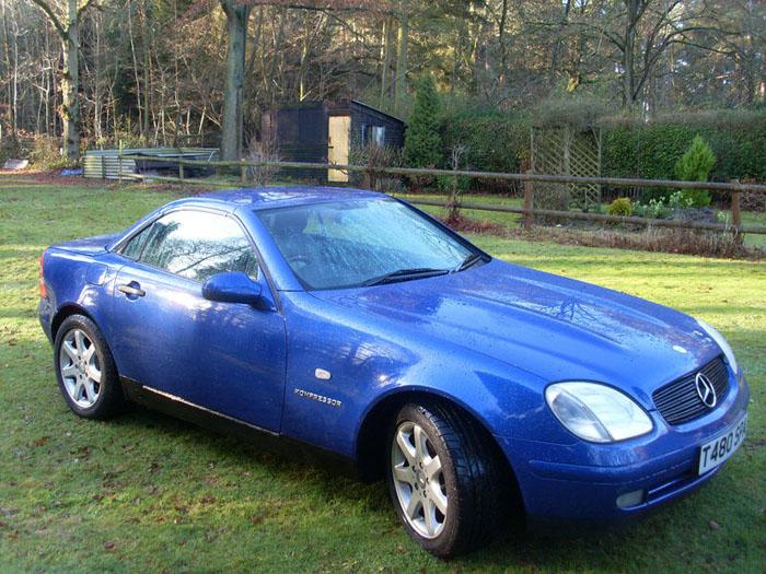 featured cars mercedes benz slk 1999 mercedes slk 230 kompressor auto blue ref 478. Black Bedroom Furniture Sets. Home Design Ideas