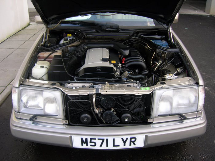 1994 mercedes benz e320 engine bay 1