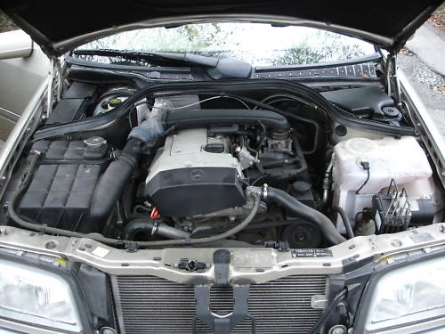 1998 mercedes benz c200 automatic engine bay