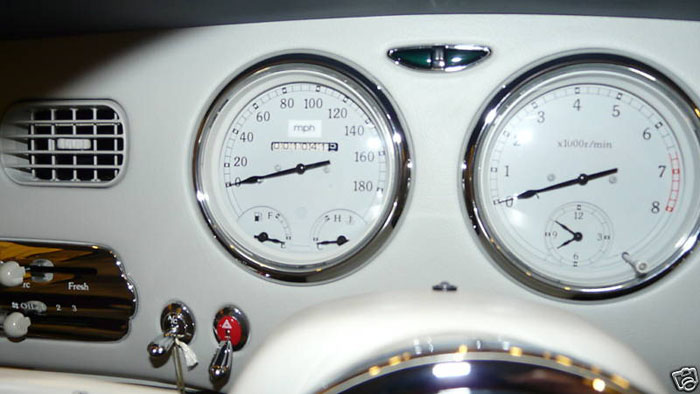 1991 nissan figaro grey white dashboard