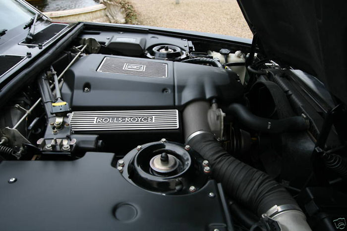 1996 rolls royce silver spirit iii engine bay
