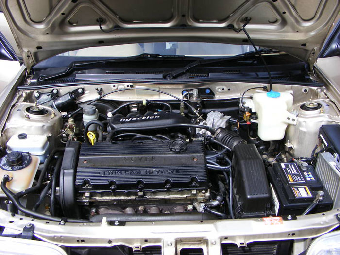 1994 rover 414 sli gold engine bay