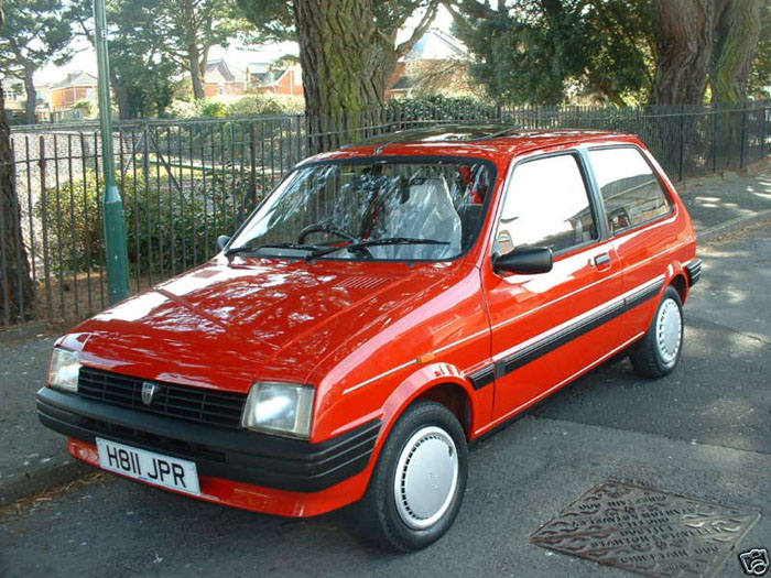1990 rover metro 1.3 red 1