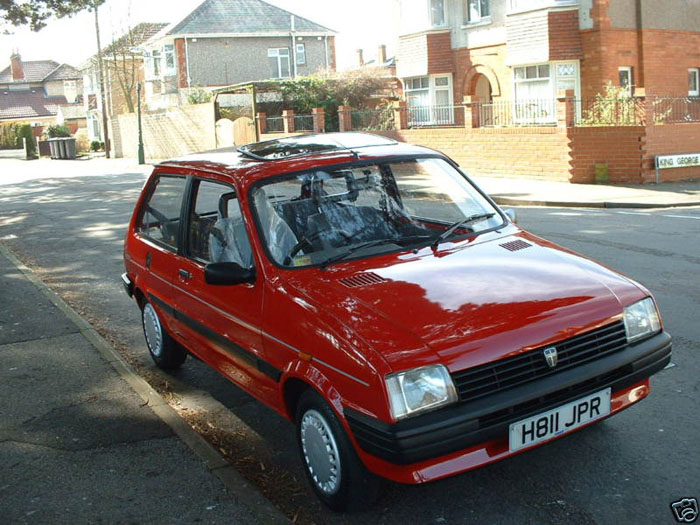 1990 rover metro 1.3 red 3