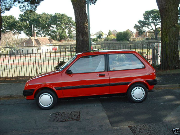 1990 rover metro 1.3 red 4