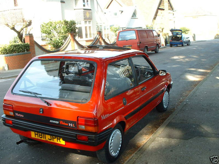 1990 rover metro 1.3 red 5