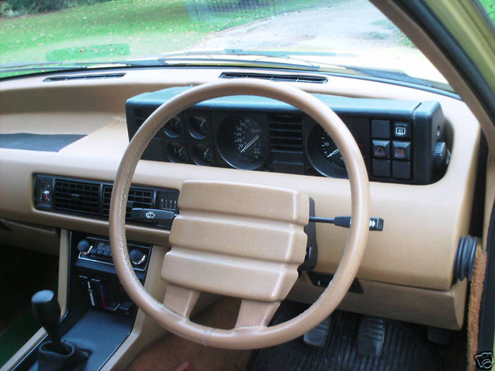 1978 rover 2600 yellow dashboard