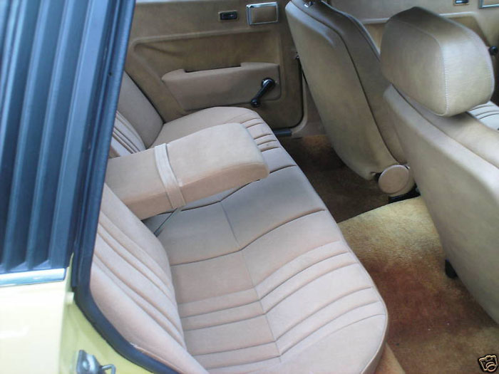 1978 rover 2600 yellow rear seats