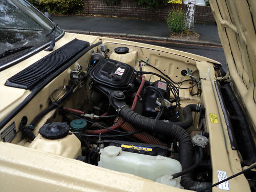 1984 triumph acclaim hl trio auto beige engine bay