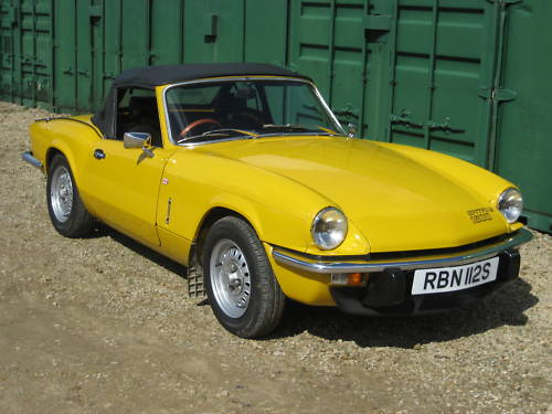 1977 triumph spitfire 1500 yellow 1