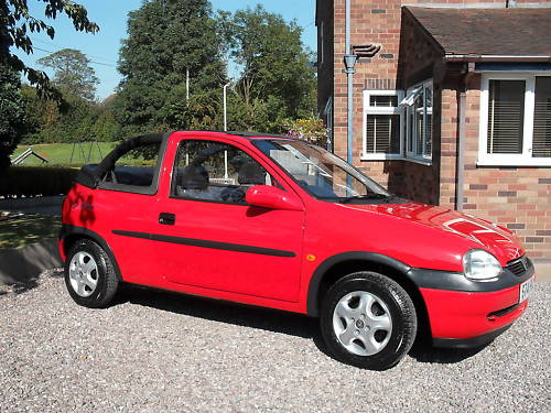 1998 1.4l vauxhall corsa convertible cabriolet 3