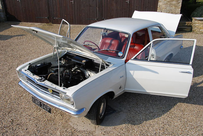 1967 2 door vauxhall hb viva sl engine bay 1
