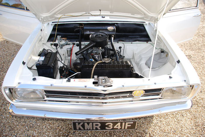 1967 2 door vauxhall hb viva sl engine bay 2
